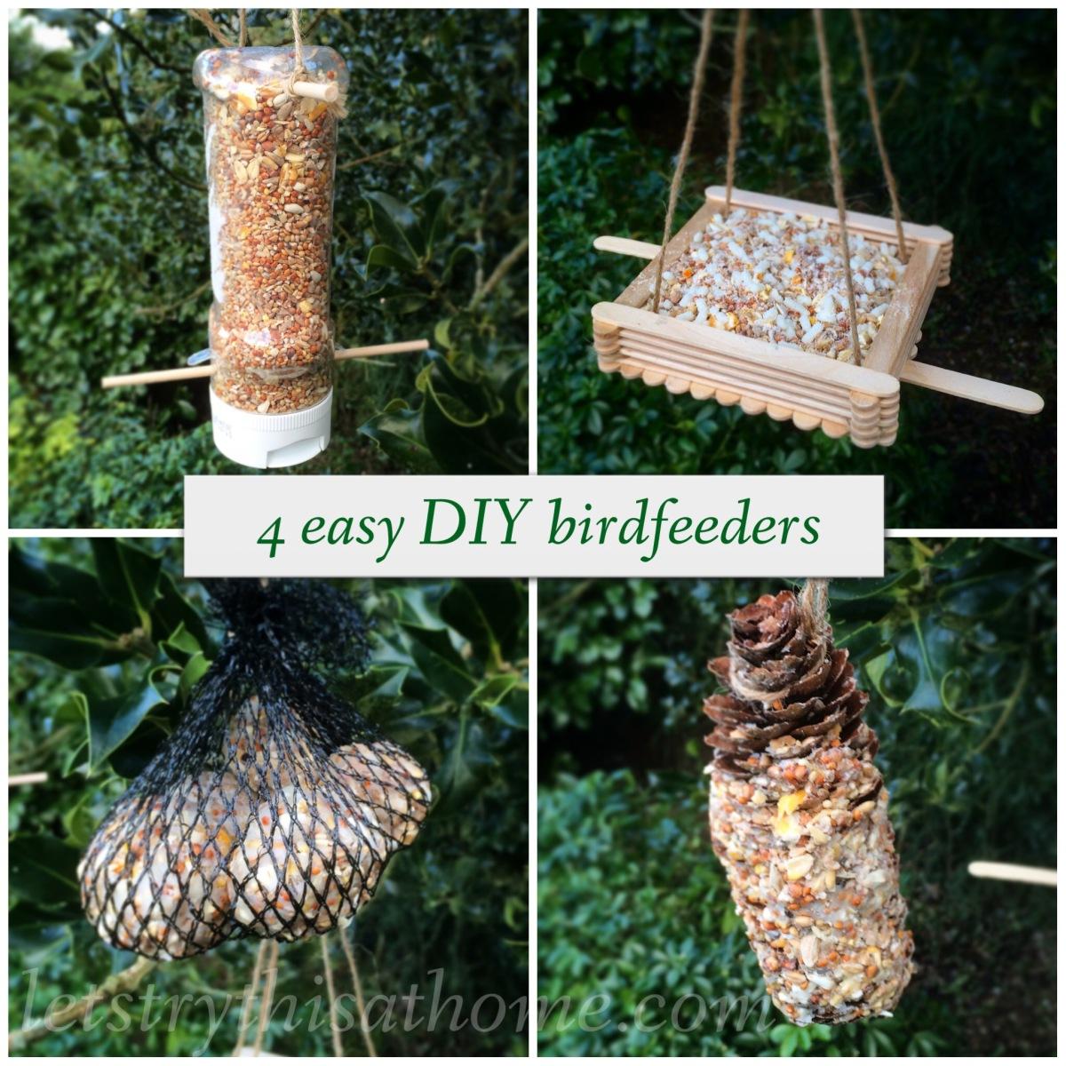 Four Easy Diy Bird Feeders Letstrythisathome