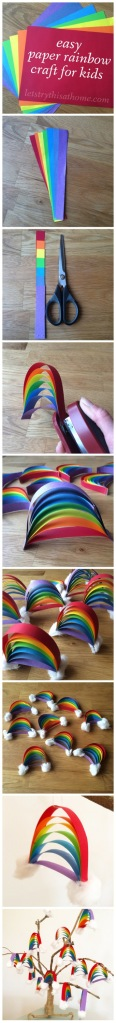 Paper rainbow DIY how-to