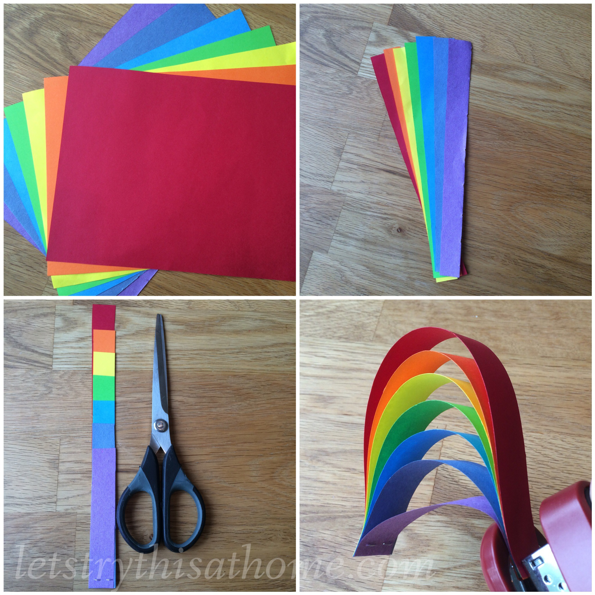 Paper Rainbow Craft Letstrythisathome