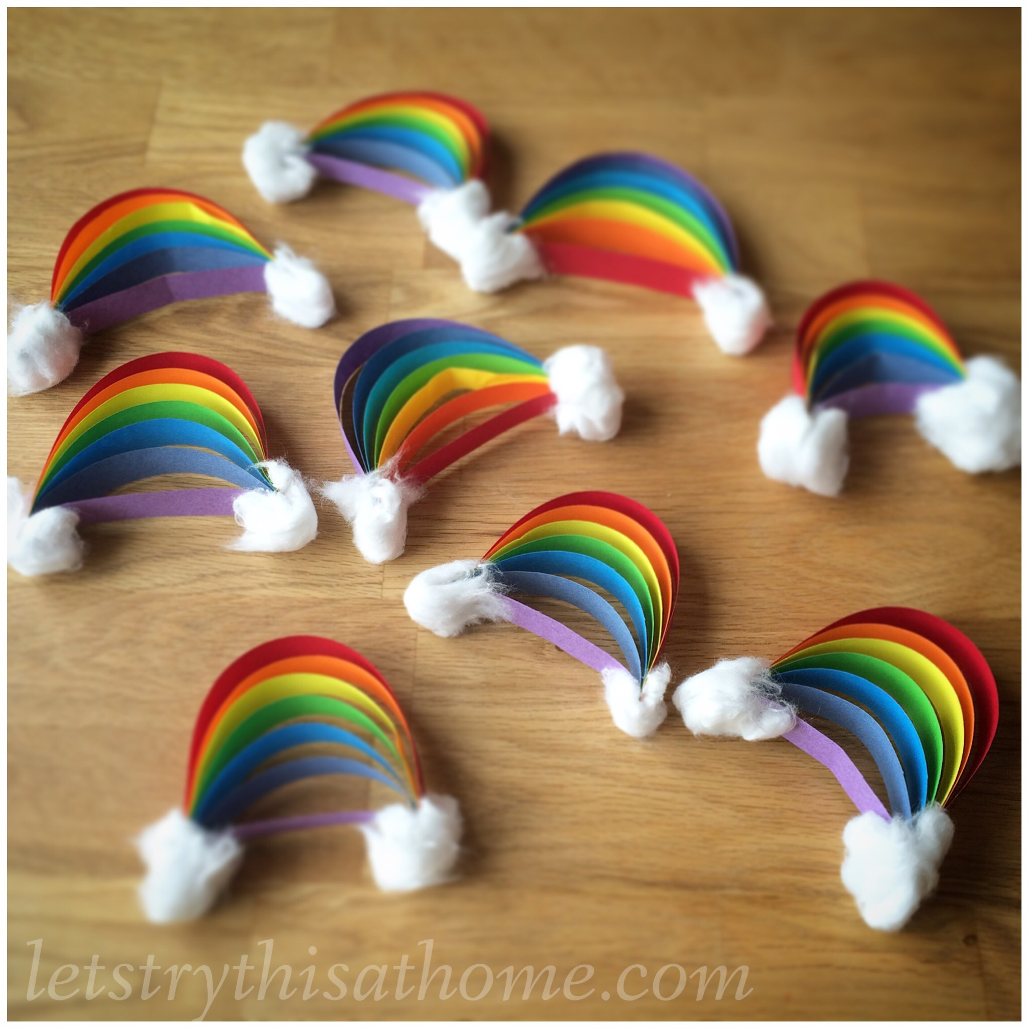 rainbow paper craft paper rainbow craft letstrythisathome 2809