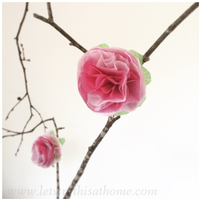 Easy Paper Flower Craft Letstrythisathome